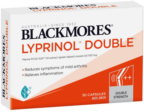 Blackmores Lyprinol Double is a special anti-inflammatory supplement that contains double the amount of Green lipped mussel oil