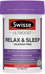 Swisse Ultiboost Relax and Sleep relieves nervous tension and restlessness to assist with a natural, restful sleep
