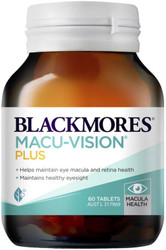 Blackmores Macu-Vision Plus is a vitamin, mineral and antioxidant eyes formula that provides nutrients important to the macular