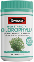 Swisse Ultiboost Chlorophyll Plus High Strength contains premium quality Organic Chlorella, a green superfood which can be taken as part of a healthy detox program