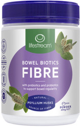 Lifestream Bowel Biotics Fibre with Prebiotics and Probiotics is designed to promote bowel health