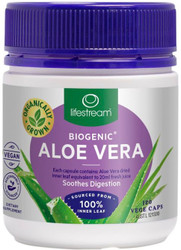 Lifestream Biogenic Aloe Vera is soothing to the lining of the stomach and support smooth and efficient digestion