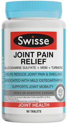 Swisse UltiBoost Joint Pain Relief contains glucosamine and MSM to reduce joint pain and swelling of osteoarthritis of the knee with turmeric for its antioxidant properties