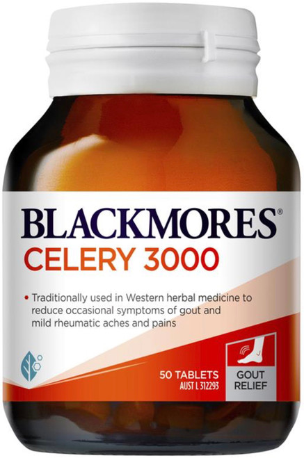Blackmores Celery 3000 is a traditional herbal remedy for the pain of arthritis and rheumatism