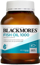 Blackmores Fish Oil 1000mg is a natural source of marine lipids called omega-3 marine triglycerides - Protects the heart, reduces inflammation.