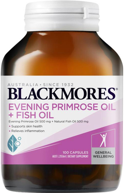 Blackmores Evening Primrose Oil Plus Fish Oil relieves arthritis and rheumatism pain and may be beneficial for circulation