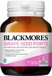 Blackmores Grape Seed Forte is a powerful herbal antioxidant and free radical scavenger that assists peripheral circulation