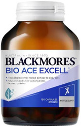 Blackmores Bio ACE Excell with grape seed + Selenium is a complete antioxidant formula that helps reduce the risk of cell damage attributed to free radicals