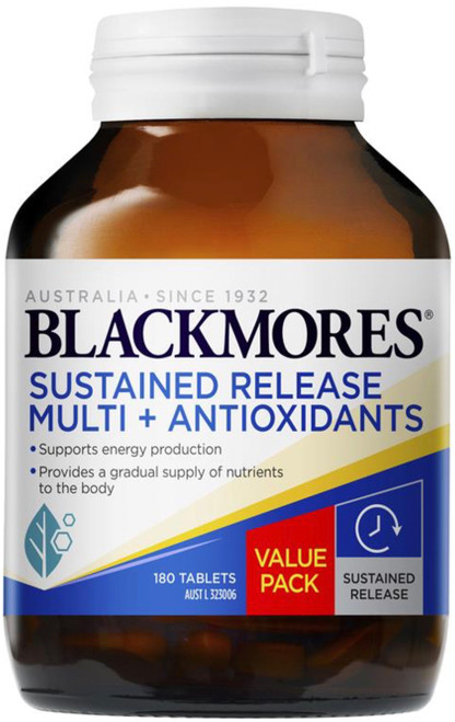 Blackmores Sustained Release Multi Plus Antioxidants provides the nutrients your body requires over a sustained 8 hour period