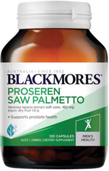 Blackmores Proseren Saw Palmetto  contains extracts of the herb serenoa, which, has been shown to relieve the symptoms of medically diagnosed benign prostatic hypertrophy BPH