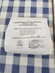 Beef Mushroom Swiss Patties ($11.75/lb)