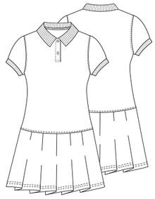 Navy Polo Dress Short Sleeve With Logo