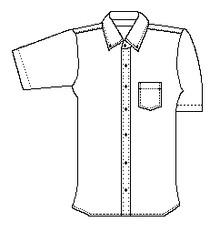 Boy's Short Sleeve Plaid Shirt