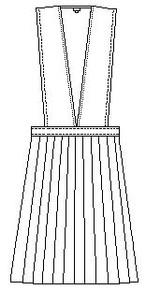 V-Neck Pleated Jumper