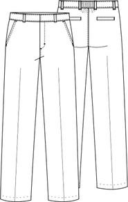Boy's Flat Front Pant