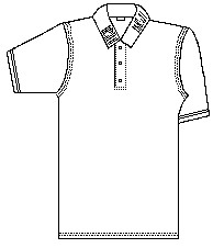 Pique Polo Short Sleeve Hemmed Cuff with Logo