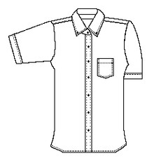 Female Short Sleeve Oxford No Logo