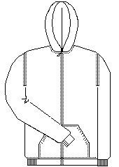 Zip Up Sweatshirt with Hood No Logo