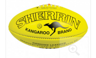 Sherrin Match Footballs-Men's- Yellow- Size 5