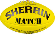 Sherrin Size 5 Men's Yellow Training Football