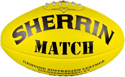 Sherrin Size 5 Men's Yellow Training Football