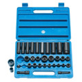 "Latest Clarke CIS9/32 32 Piece Heavy Duty 3/8"" & 1/2"" Impact Socket Set Metric/AF"