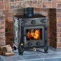 Latest CLARKE COTTAGER 2 TRADITIONAL CAST IRON WOOD BURNING STOVE 6KW