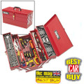CLARKE TOOL BOX CHEST PLUS TOOLS 199PC DIY TOOLKIT CHT641