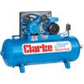 Latest Clarke Industrial Air Compressor XEV16 150 litre tank 3HP 14 CFM 400 volt 2092276