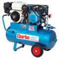 Latest CLARKE XPPVH11/50 Petrol Powered Industrial Air Compressor 9CFM 5.5HP Honda