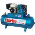 Latest Clarke XP15/150 Petrol Driven Industrial Air Compressor 15CFM 6.5HP Honda