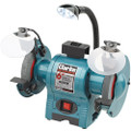 CLARKE BENCH GRINDER 6 INCH FINE AND COARSE 230VOLT WITH LAMPS