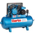 Latest Clarke Industrial Air Compressor XEV11 100 litre tank 2HP 230 volt 9 CFM 2092232