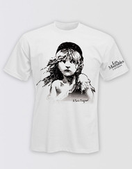 Les Miserables White Cosette T-Shirt - LONDON