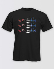 Les Miserables Black Title T-Shirt