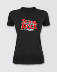 SCHOOL OF ROCK Fitted Glitter Logo T-Shirt