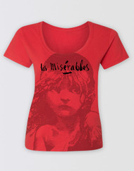 Les Miserables Red Scoop T-Shirt