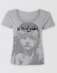 Les Miserables Grey Scoop T-Shirt
