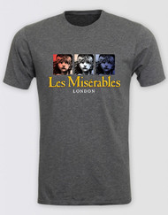 Les Miserables Grey Block T-Shirt - LONDON