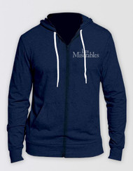 Les Miserables Navy Embroidered Hoody