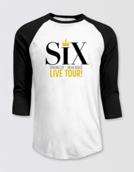 SIX Raglan 3/4 Sleeve T-Shirt