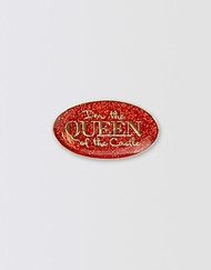 SIX Glitter Pin - Queen of the Castle