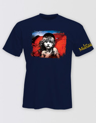 Les Miserables Navy Flag T-Shirt