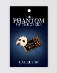 The Phantom of the Opera Lapel Pin - Ticket