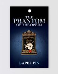 The Phantom of the Opera Lapel Pin - Mirror