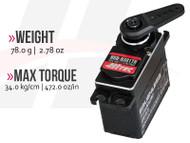 HSB-9381TH Full Metal Case, Ultra Torque, Brushless, Titanium Gear Servo