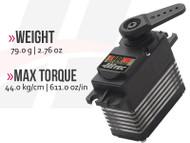 D980TW 32-Bit, Monster Torque, Titanium Gear Servo