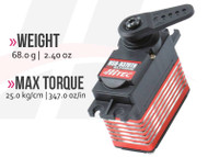 HSB-9370TH Multi-Purpose, Brushless, Titanium Gear Servo