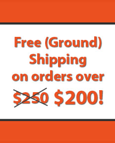 Free (Ground) Shipping on orders over $200!