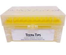 Stellar Scientific Teepa Tip 200uL Filter Pipette Tip - Closed Box - New Yellow Wafers
